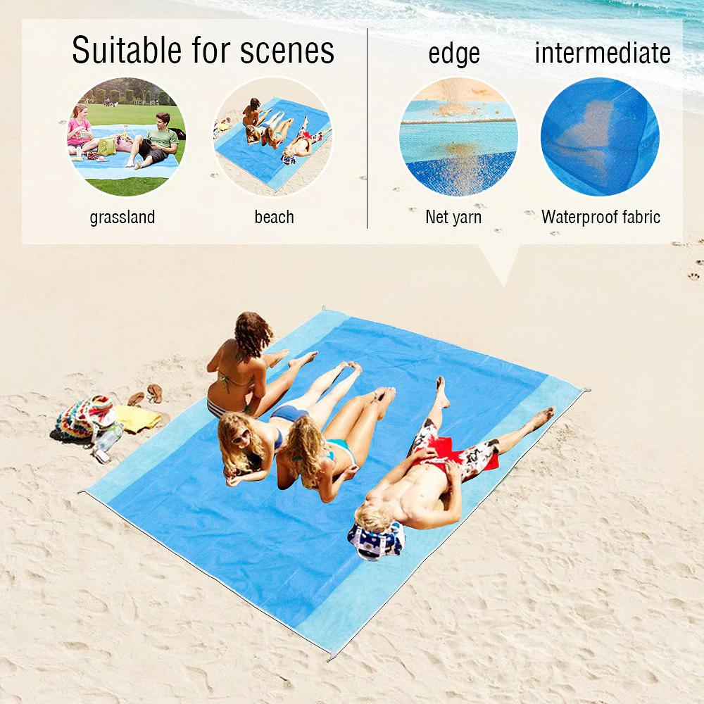 Anti Sand Beach Mat Outdoor Travel Summer Vacation Camping