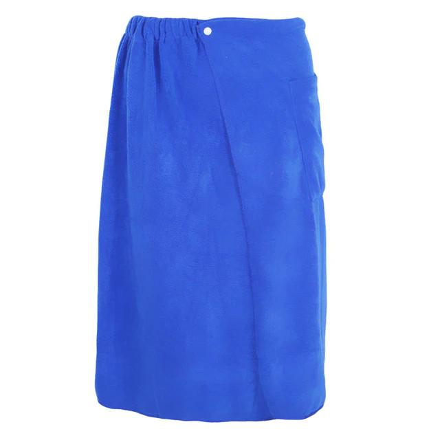 blue wrap towel