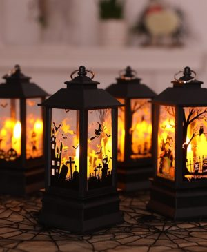 2019 Halloween Vintage Pumpkin Castle Light Lamp Party Hanging Decor LED Lantern Party Supplies Hanging Lantern