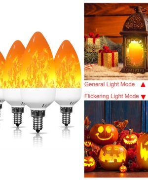 Dynamic Flame Effect LED Light Lamp Warm Yellow color Lighting decoration Bulb For Halloween Christmas Party Home Garden Fence