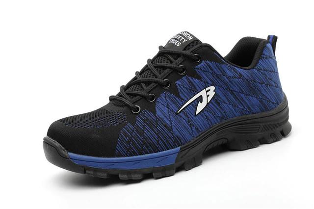 Puncture resistant shoe blue