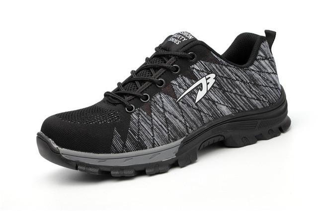 Puncture resistant shoe gray