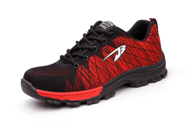 Puncture resistant shoe red