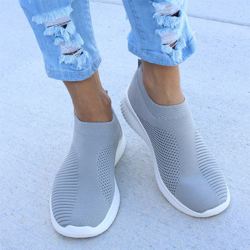 Women Sneakers Female Knitted